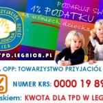 Przekaż 1% i wesprzyj działania TPD na rzecz dzieci