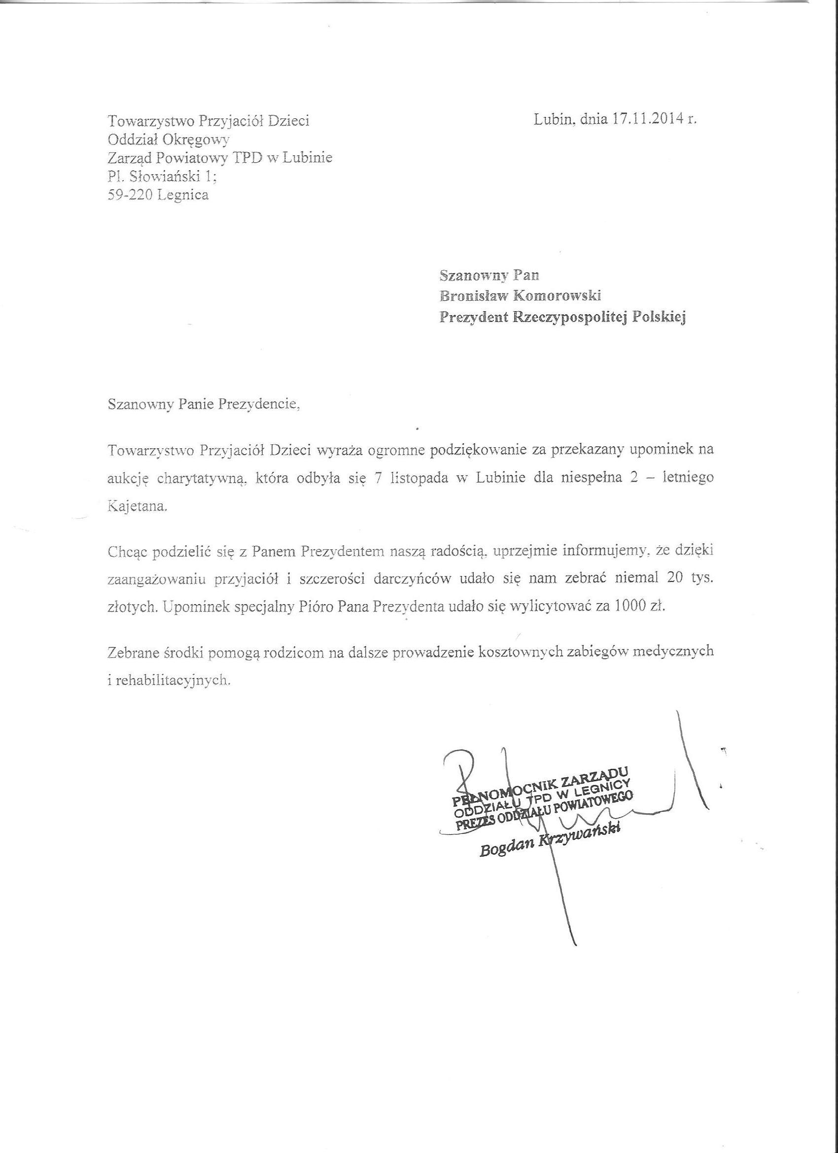 kajtek_podziekowanie_dla_prezydenta