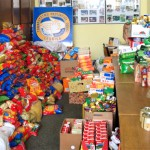 Tak wyglądało biuro przy ul. Grunwaldzkiej podczas zeszłorocznej zbiórki żywności